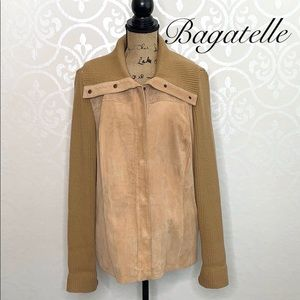 BAGATELLE XL LEATHER AND KNIT JACKET